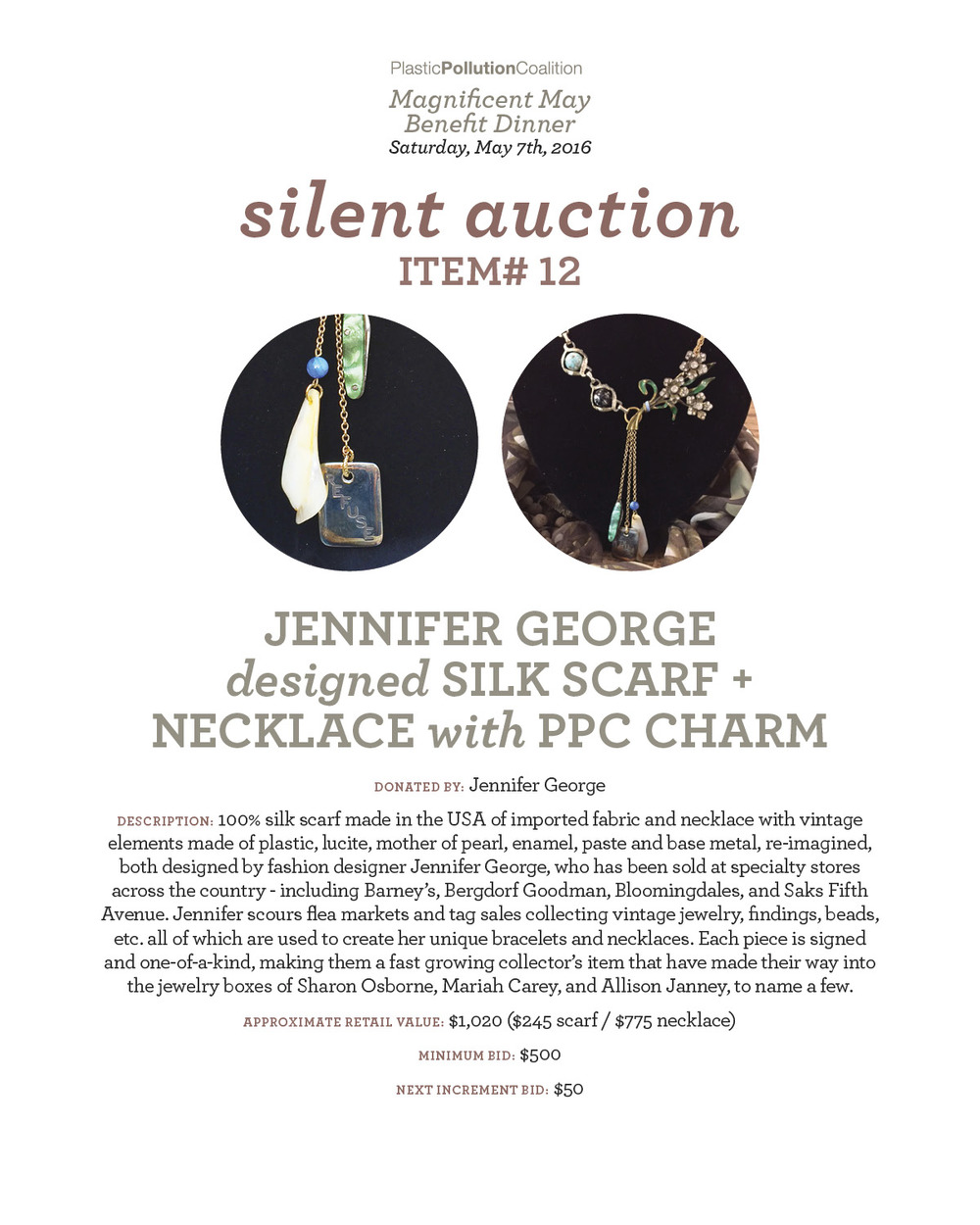 j. george scarf + necklace