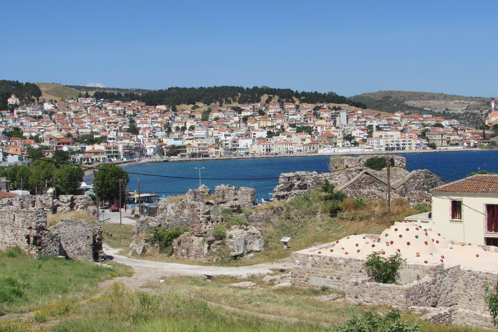 Mytilene, the capital city of Lesbos in the Greek Islands