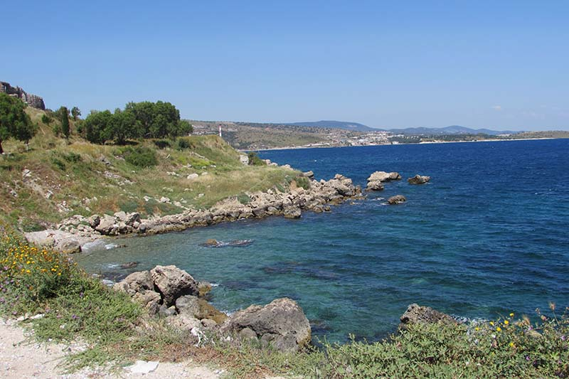 The Lesbos coast