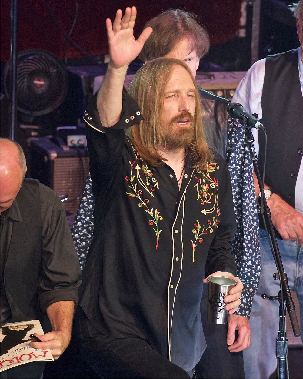 Tom Petty with a steel cup. Photo by Clay Holt.