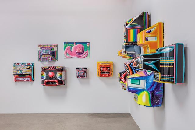 Kenny Scharf,  Blox and Bax , 2017, Installation view at Honor Fraser Gallery, Los Angeles, CA