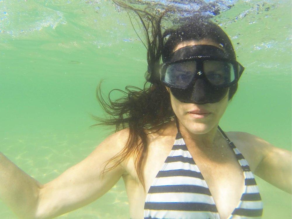 Anita Horan free diving. Photo by Tim Horan.