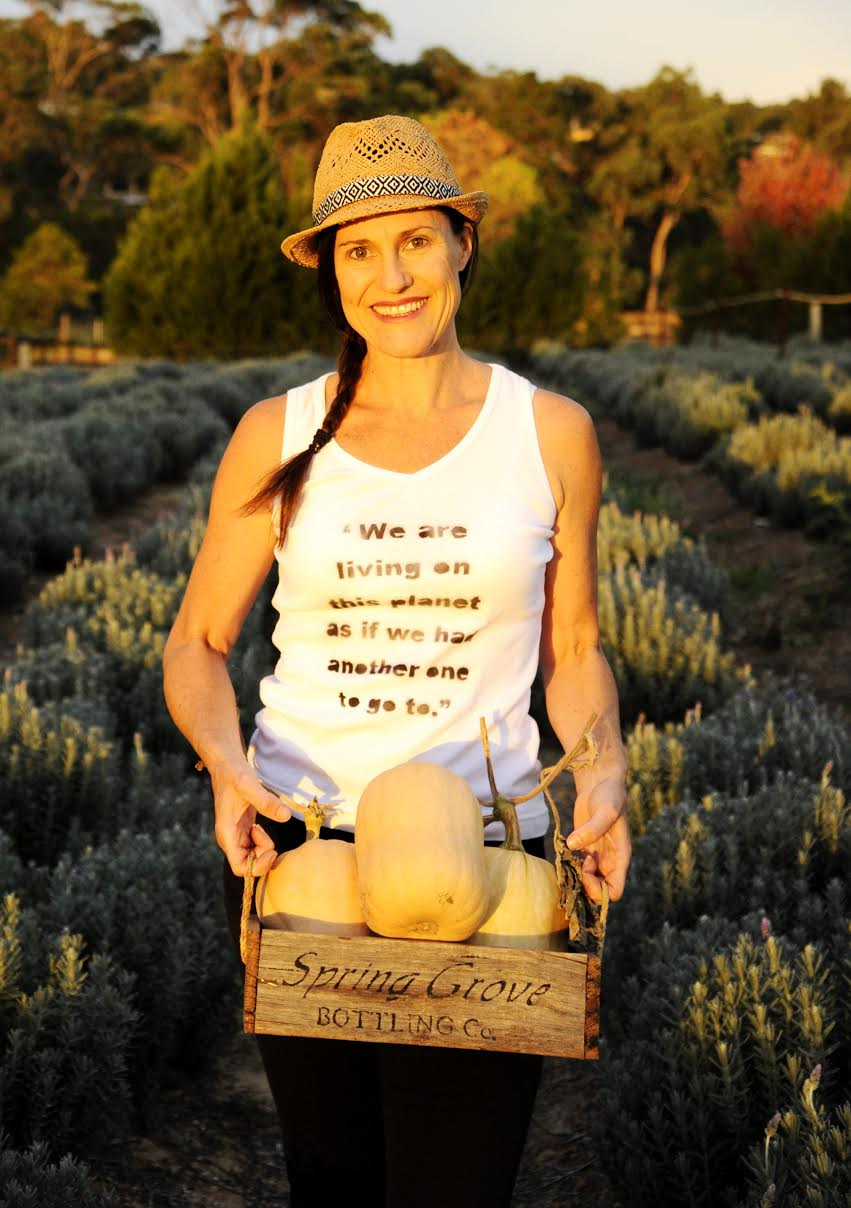 She encourages people to grow as much of their own food as possible.