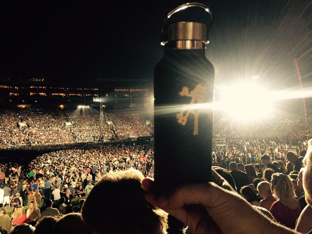 Reusable water bottles commemorate The Joshua Tree Tour 2017