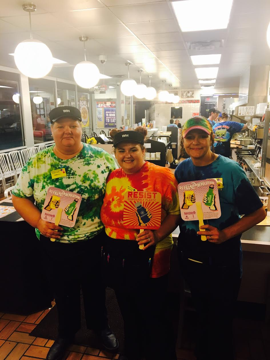 Waffle House employees Manchester TN joined the Refill Revolution