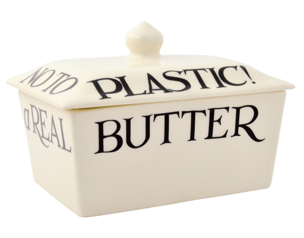 """A Real Butter Dish ... Say A Definite No To Plastic!"""