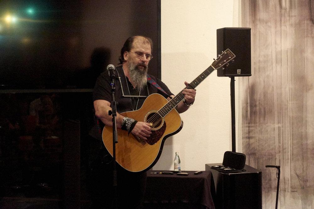 Steve Earle performs