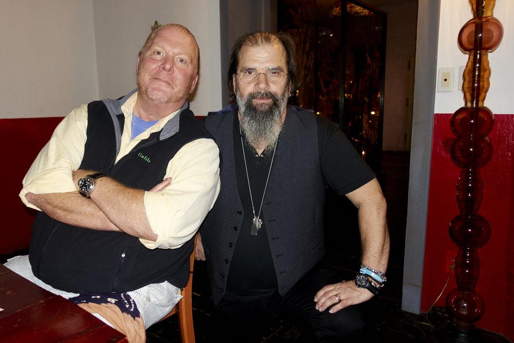 Mario Batali and Steve Earle. Photo by  @lyndachurilla