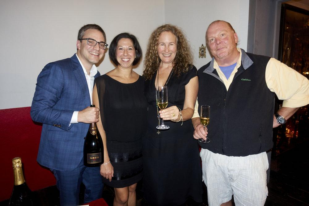 Bill Jackson, Sarah Jackson, Dianna Cohen, and Mario Batali. Photo by  @lyndachurilla