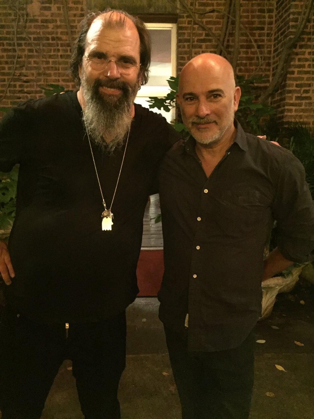 Steve Earle and Izhar Patkin. Photo by  @lyndachurilla