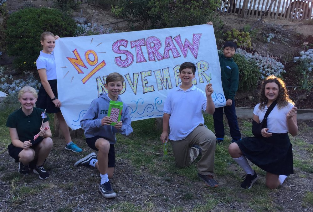Students at the Stevenson School have joined the #NoStrawNovember movement.