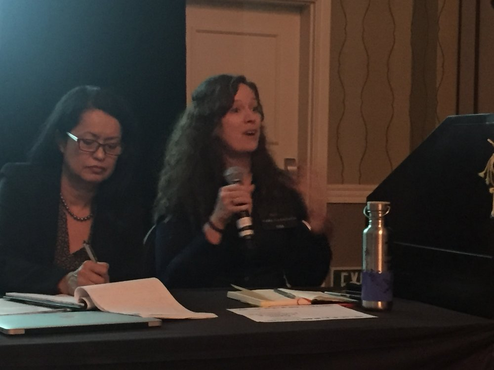 Jane Patton, Managing Director of Plastic Pollution Coalition, moderated the Environmental Justice panel.