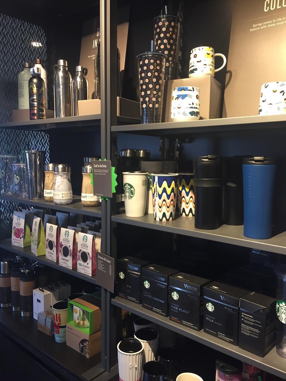 Starbucks offers beautiful reusable cups.