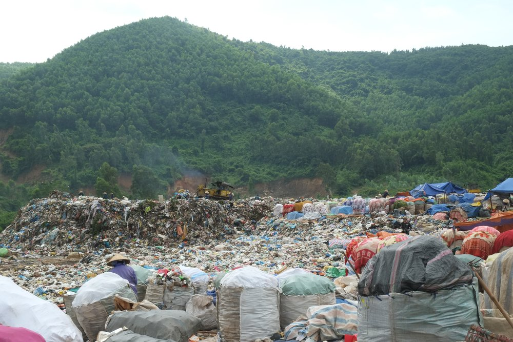 An open landfill in Vietnam