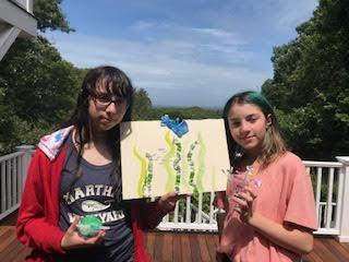 Lula and Maya's plastic art projects.