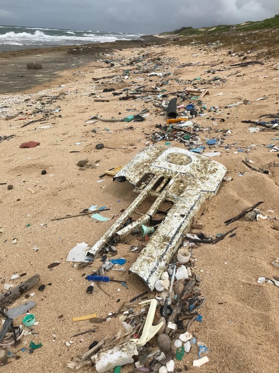 Plastic pollution in Kauai, HI