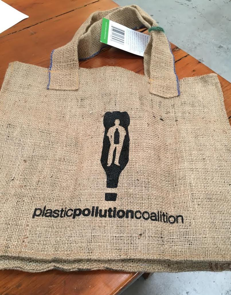The compostable R3 bag to benefit Plastic Pollution Coalition.