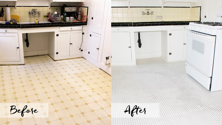 How To Install 1920s Penny Tile Flooring New Nostalgic