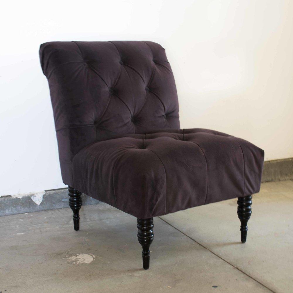 Merveilleux Purple Upholstered Chair