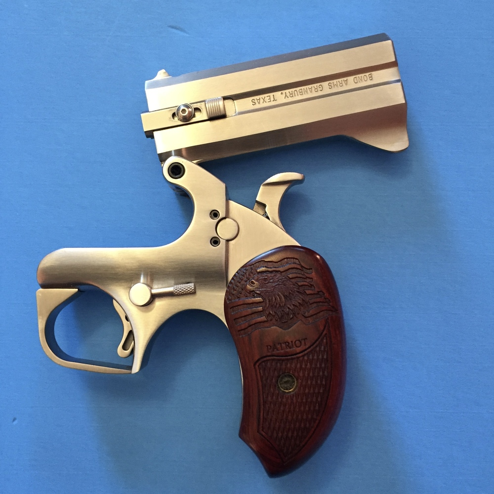"Bond Arms Patriot Derringer with the 3.5"" barrel chambered for .410/.45 Colt"