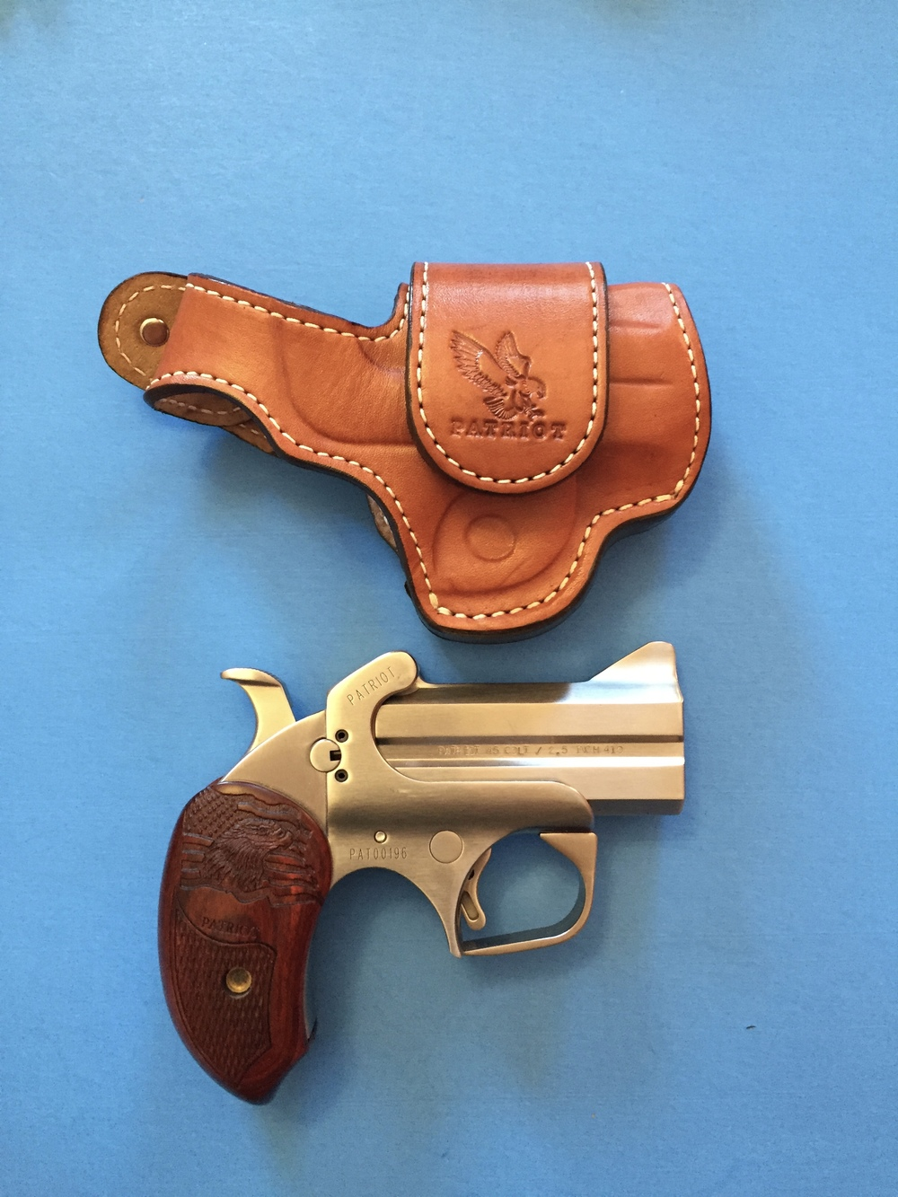"Patriot with 3"" barrel and Bond Arms Driving Holster"