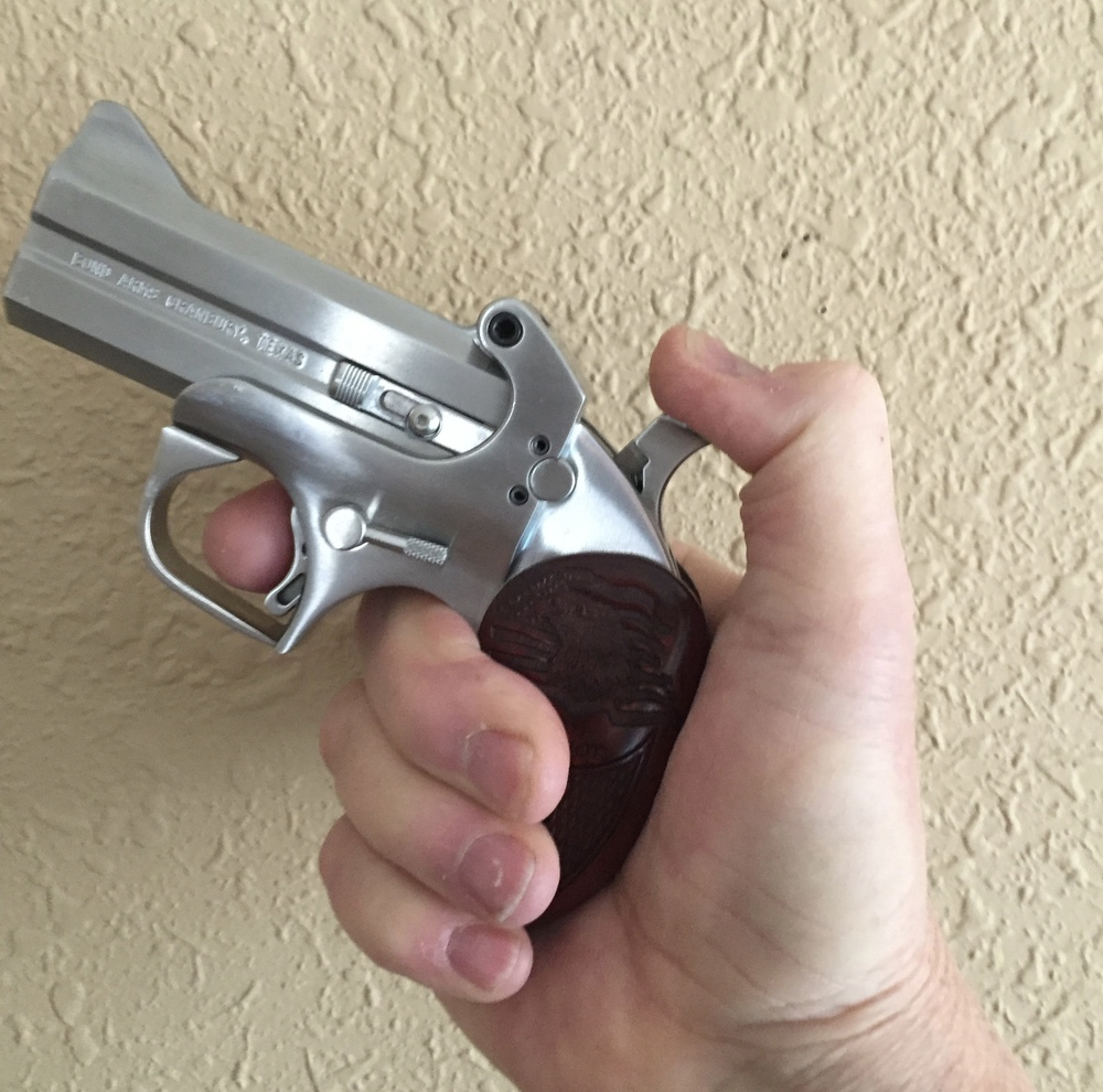 "Bond Arms Patriot model fitted with a 3 1/2"" ""Snake Slayer"" barrel set in .45 Colt/.410 gauge"