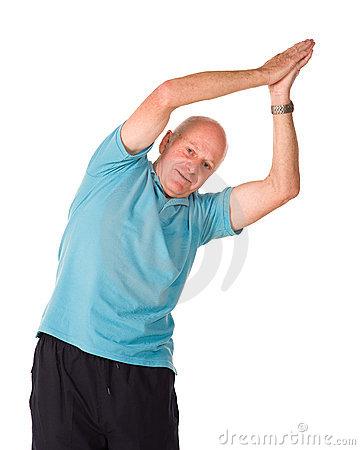 Man side stretch