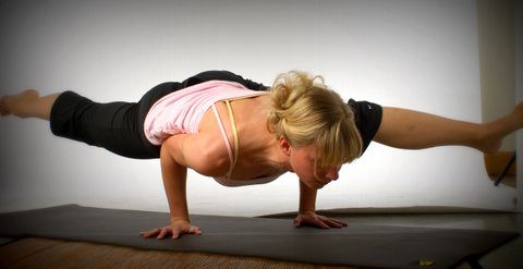 One of the first photos taken of Shannan as a new yoga teacher.