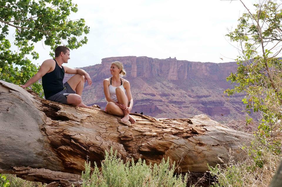 Teaching a yoga retreat with Micah Scholes in Moab, Utah. 2014
