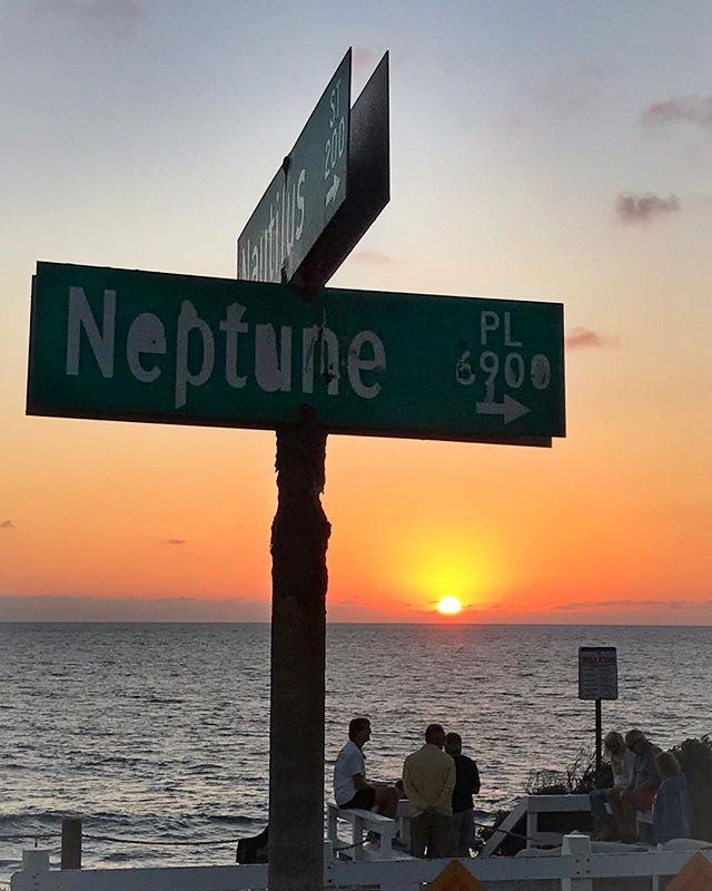 Neptune's sunset. #sunsets #sandiego #lajolla