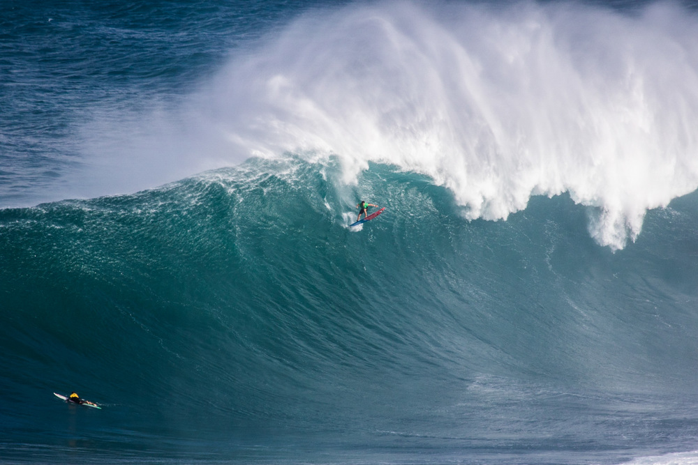 Billy Kemper at the WSL Peahi Challenge