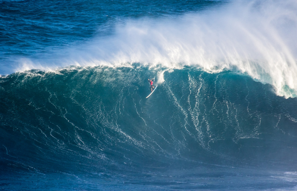 Shane Dorian at Peahi, Jaws, Maui