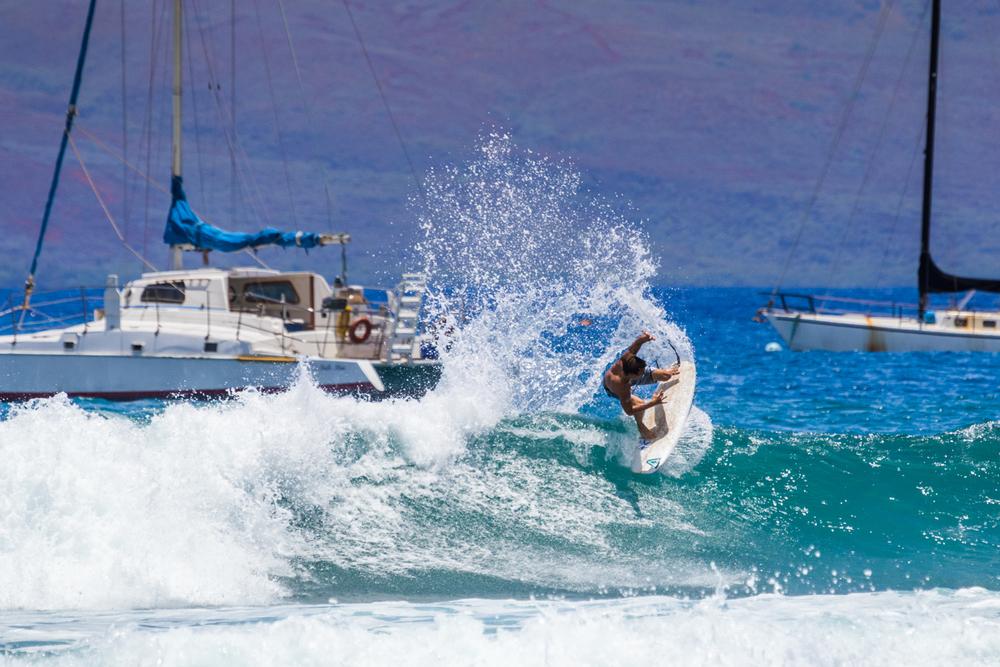 Chaz Kinoshita Turn at Lahaina Harbor