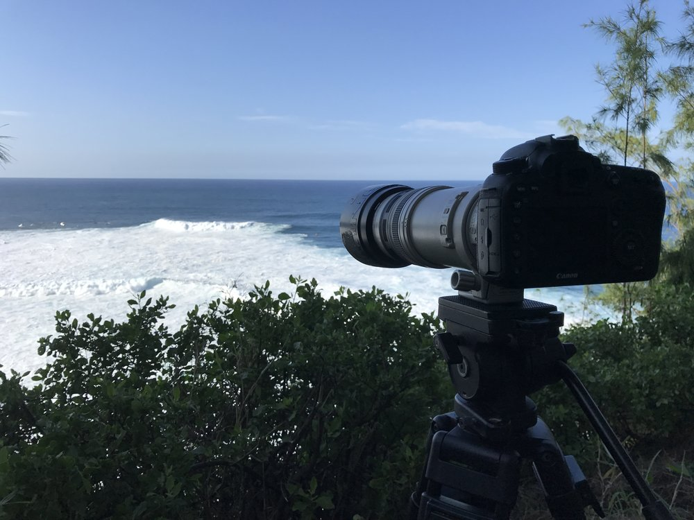 Our view from the cliff at Pe'ahi.