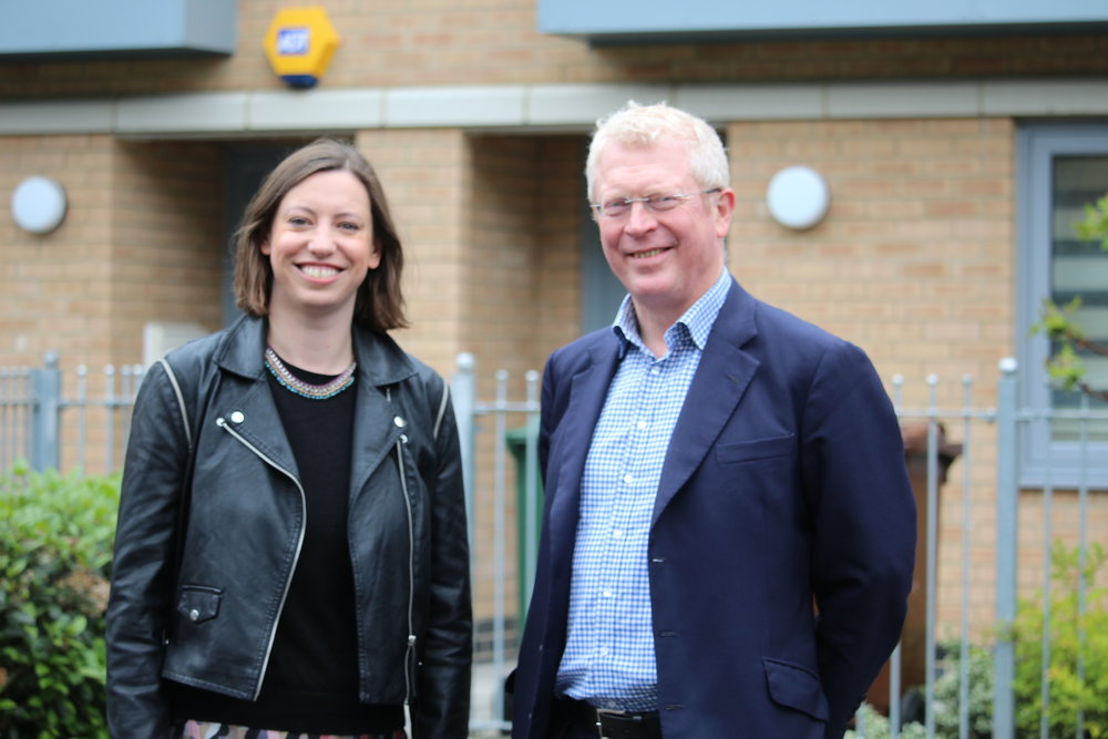 John Cryer MP with the labour leader of waltham forest council, councillor clare coghill