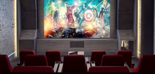 We'll watch the documentary on a large screen... comme au cinéma !