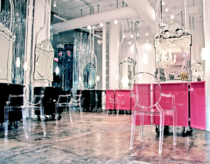 The salon is located at 418 West 13th St. NY, NY 10014