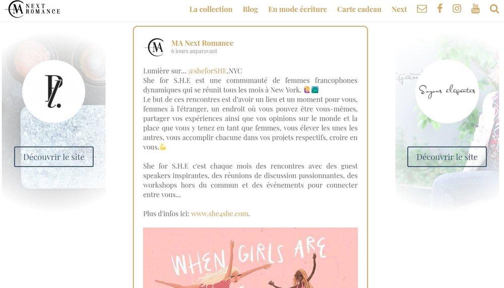 Ma Next Romance - Albin Michel -