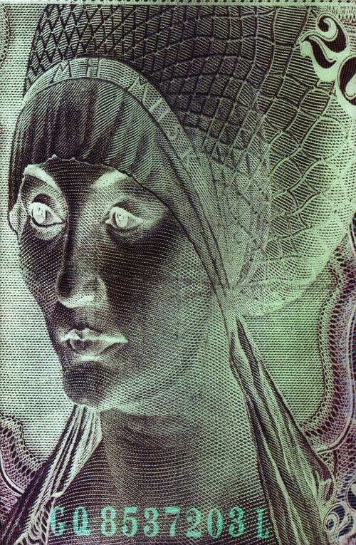 "Detail, ""Dark Continents"" (2010) Currency Series"