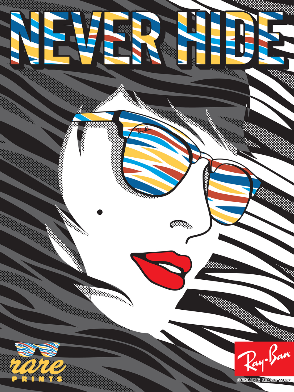 Ray-Ban, Never Hide, Rare Prints, Girl, Hair