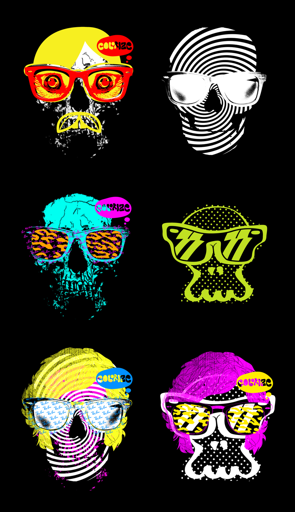 Ray-Ban-Never-Hide-Colorize-skulls