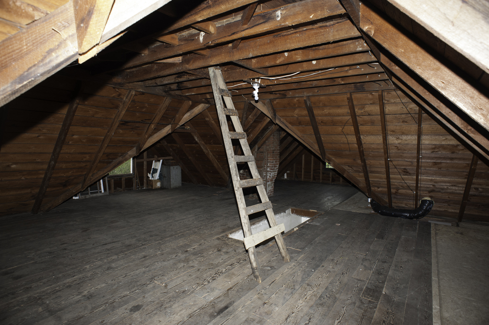 The attic with nothing in it
