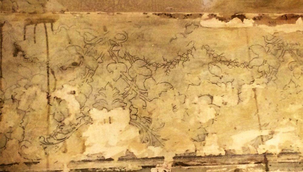Original Wallpaper in the Den