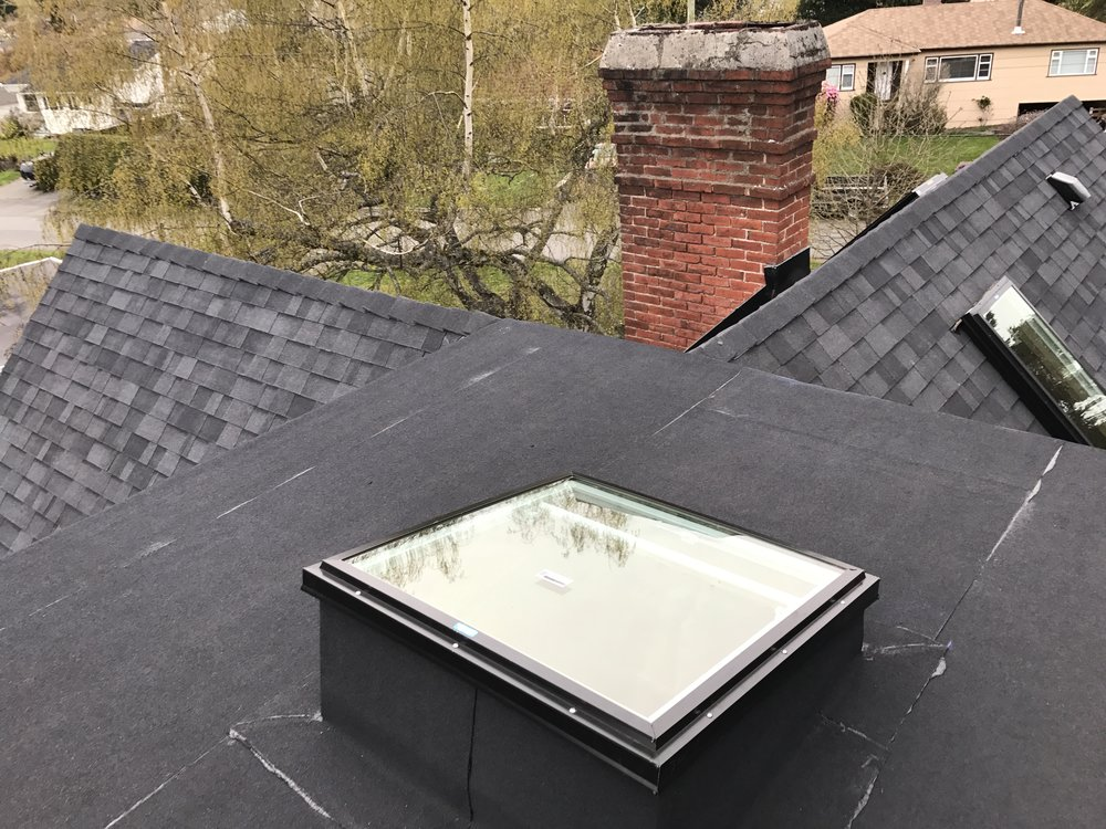 The widow's walk and the new skylight hatch