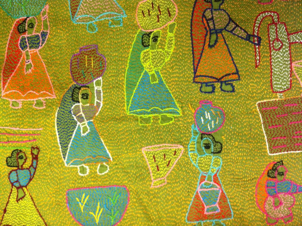 Example of Kantha stitching from a small village in India