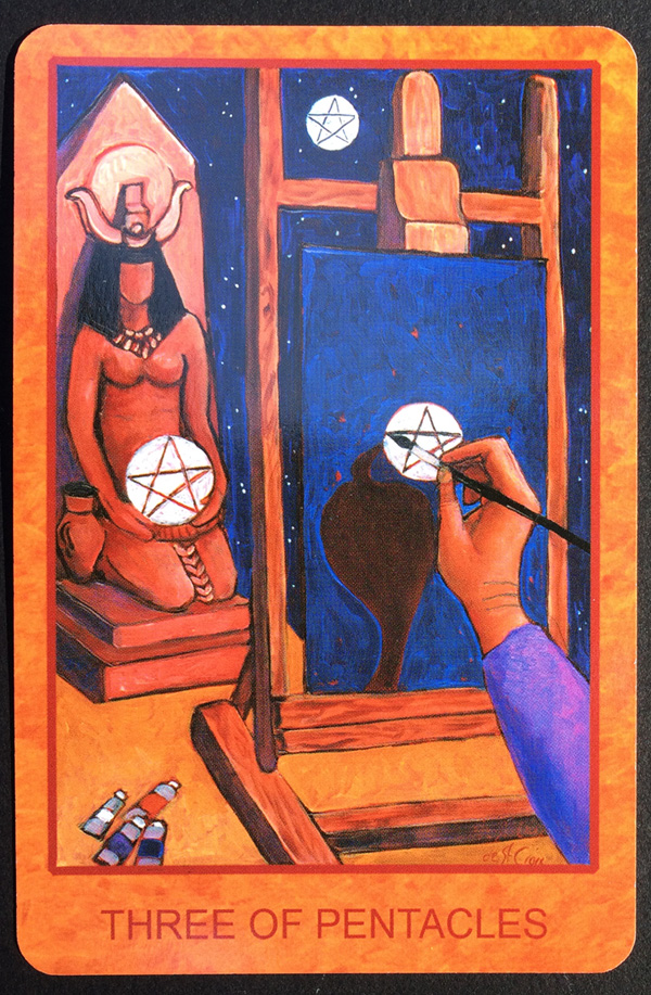 Image for the three of pentacles by Lisa de St. Croix: www.lisadestcroix.com