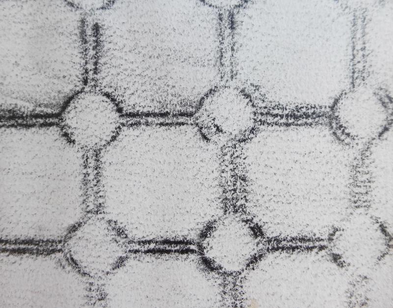 Rubbing of a floor mat