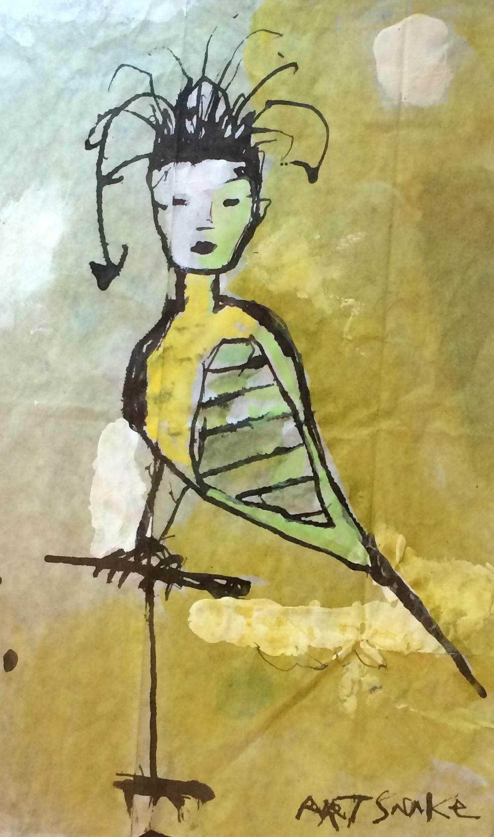 Painting on scraps, Rodney Hatfield