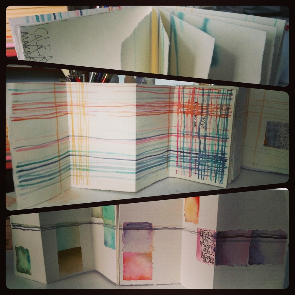 Jessica Singleton: Accordion book with folio