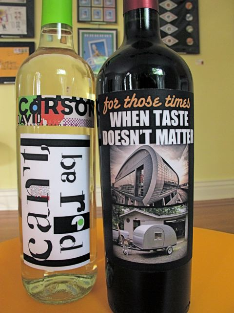 Wine labels by Keith Kleepsies